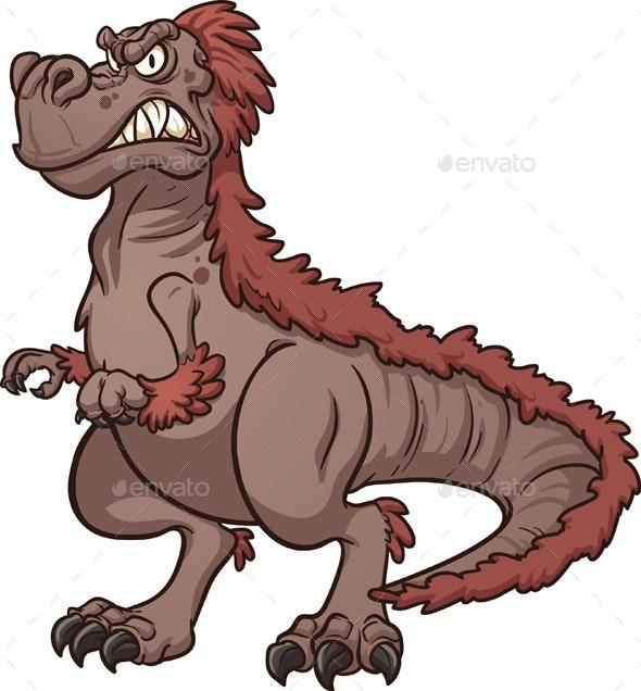 Cartoon Tyrannosaurus - Animals Characters