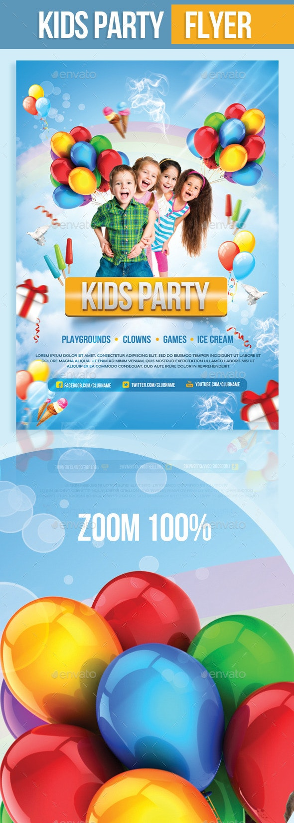 Kids Party Flyer - Events Flyers