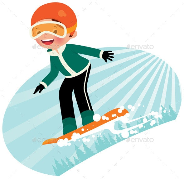 Snowboarder - Sports/Activity Conceptual