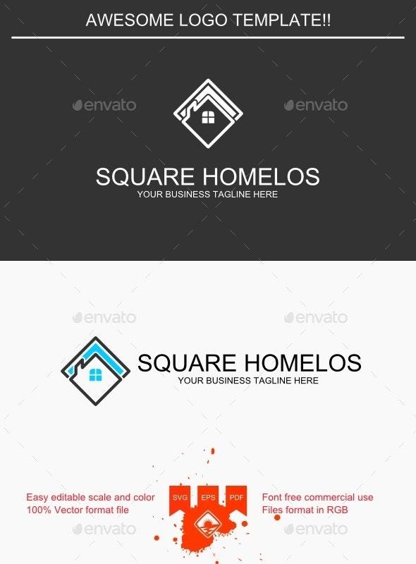 Square Homelos Logo - Buildings Logo Templates