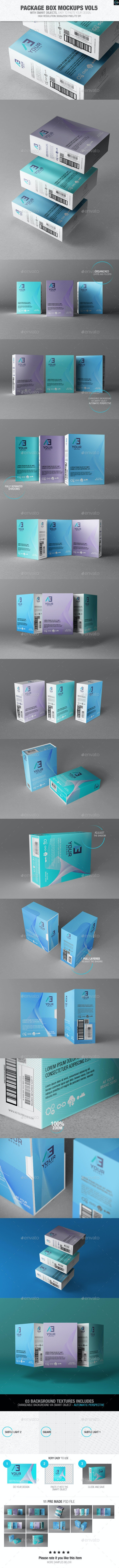 Package Box Mockups Vol5 - Packaging Product Mock-Ups