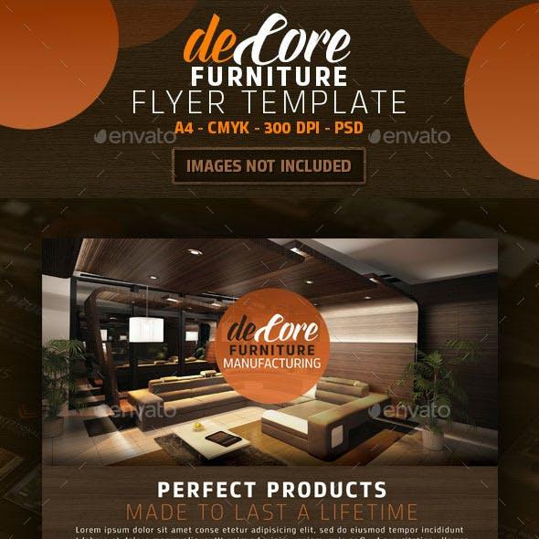 DeCore Furniture Flyer Template