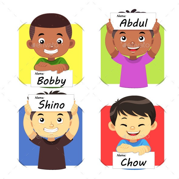 Boys Name 02 - People Characters