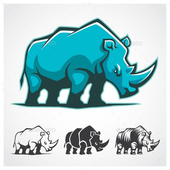 Rhinoceros Symbol - Animals Characters