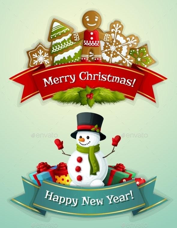 Christmas Banner Set - Christmas Seasons/Holidays