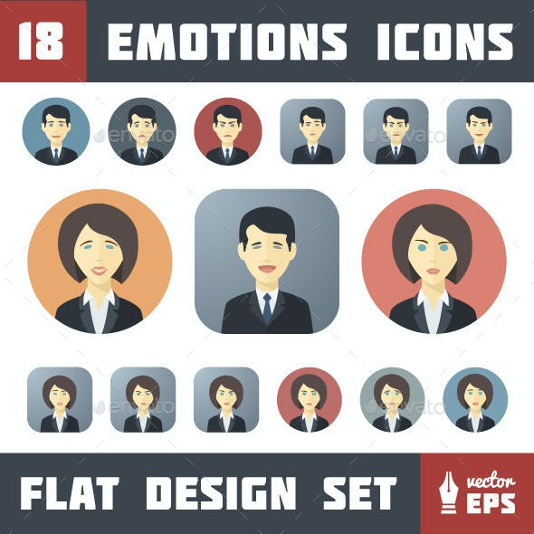 Emotions Icons Set