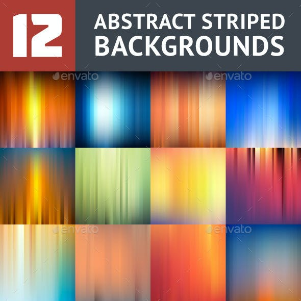12 Striped Backgrounds