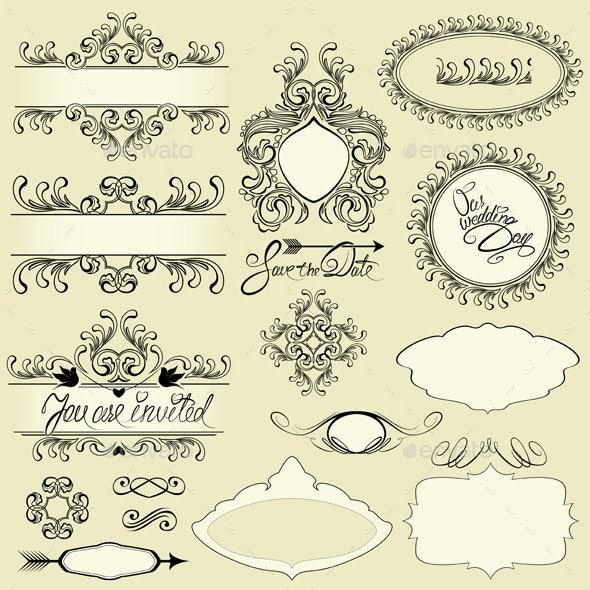 Vintage Ornaments and Frames - Weddings Seasons/Holidays