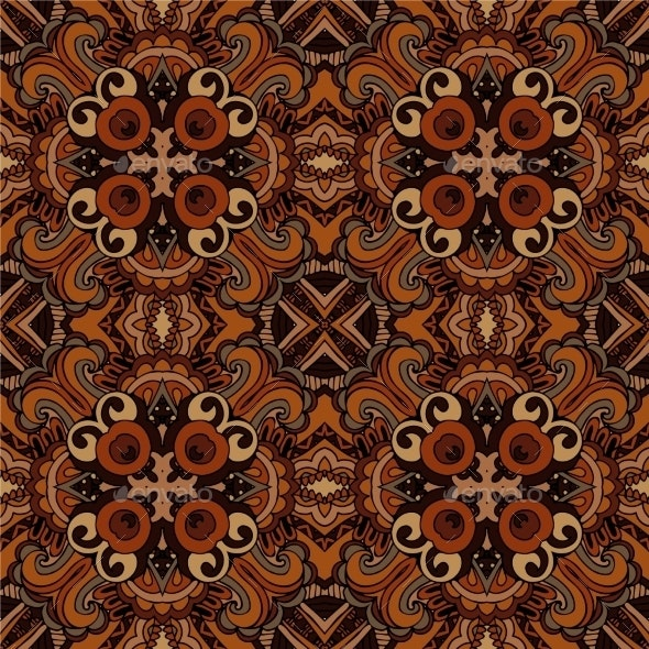 Abstract Ethnic Seamless Tribal Pattern  - Patterns Decorative