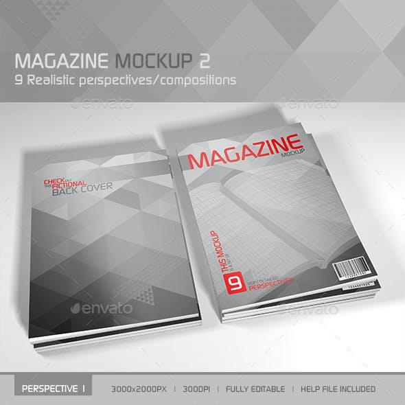 Realistic Magazine Mockup 2