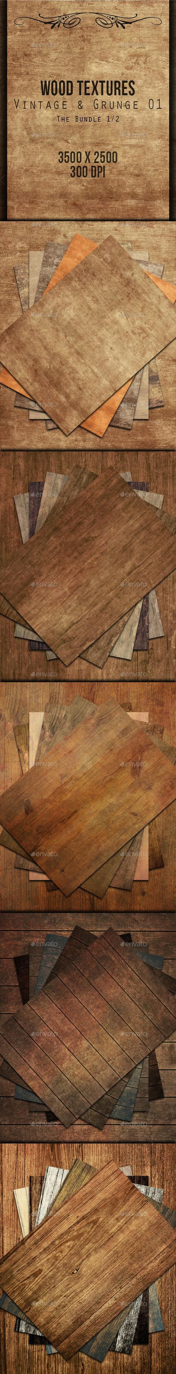 Wood Textures Bundle - Vintage & Grunge 01