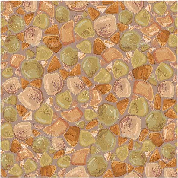 Seamless Stones Pattern  - Patterns Decorative