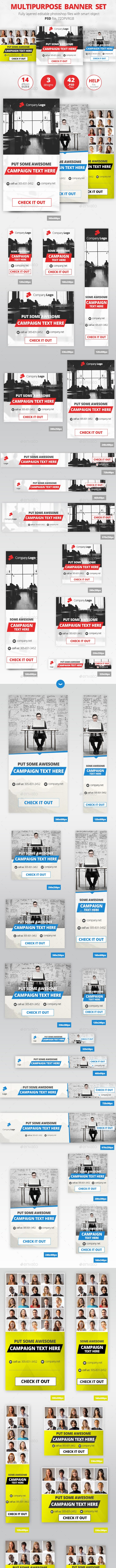 MultiPurpose Banner Set - Banners & Ads Web Elements