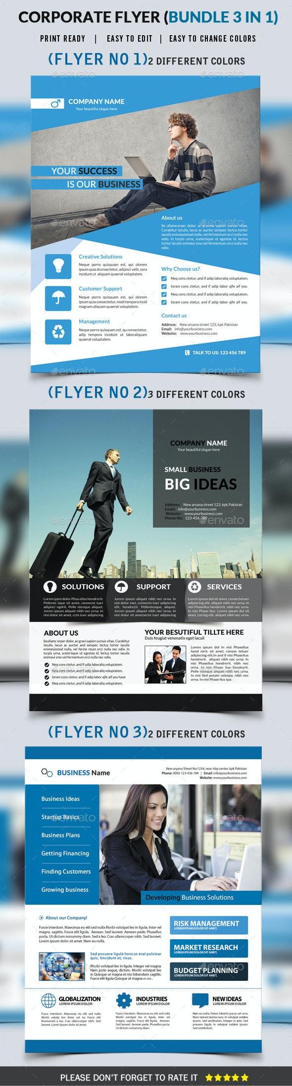 Corporate Flyer Bundle 3 in 1 - Corporate Flyers