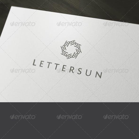 Letter Sun Logo