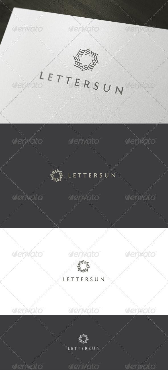 Letter Sun Logo - Vector Abstract