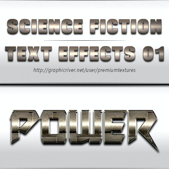 Science Fiction Text Effects 01