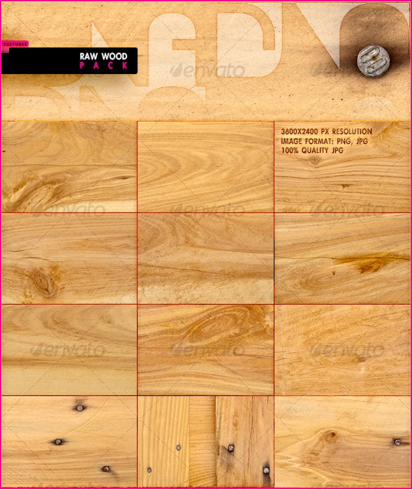 Raw Wood - Wood Textures