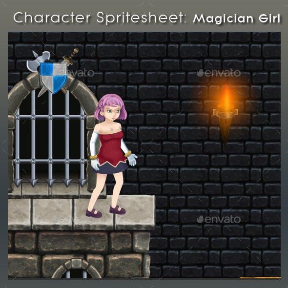 Character Spritesheet: Magician Girl