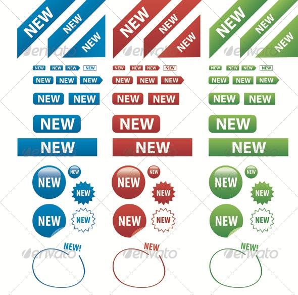 New New New - Decorative Vectors