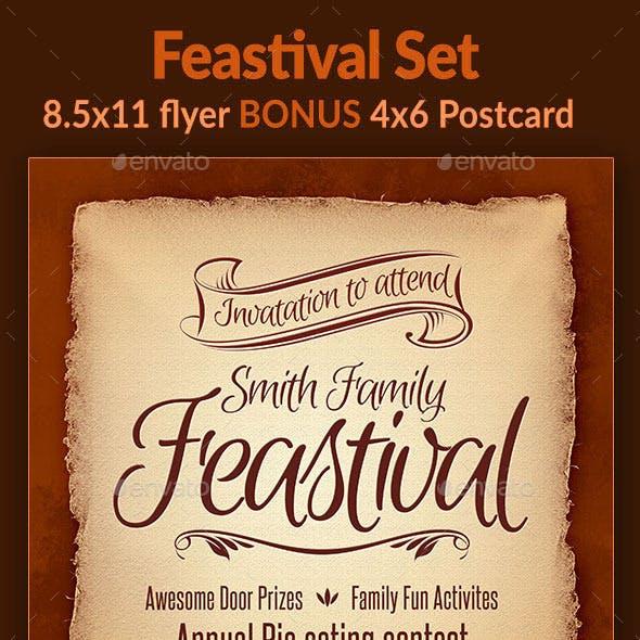 Feastival Flyer Set