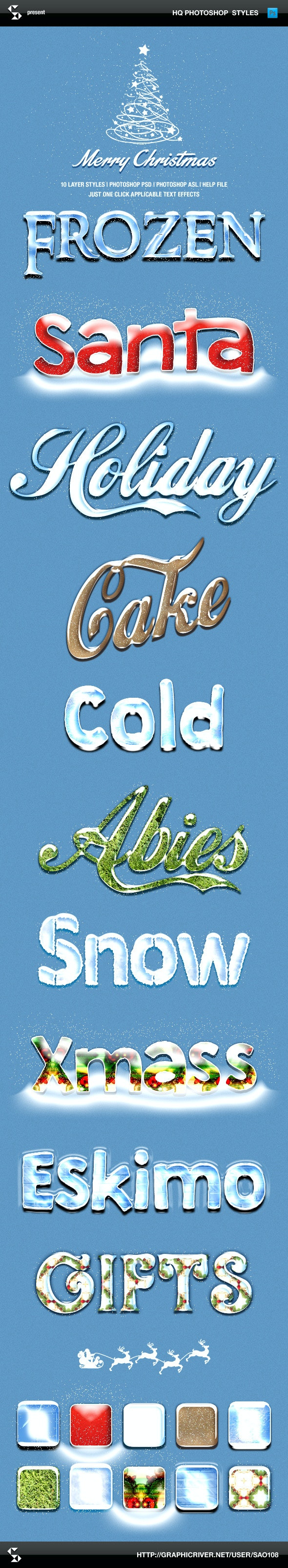 Winter Style Text Effects - Text Effects Styles