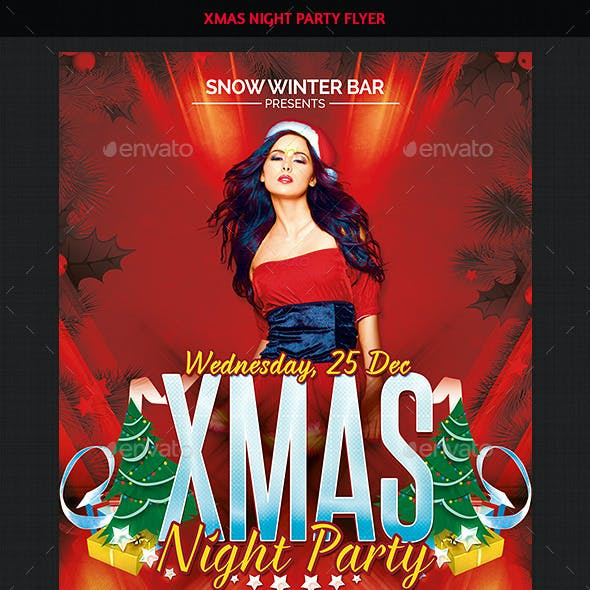 Xmas Sexy Night Party Flyer