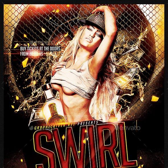 Swirl Underground | Flyer Template PSD