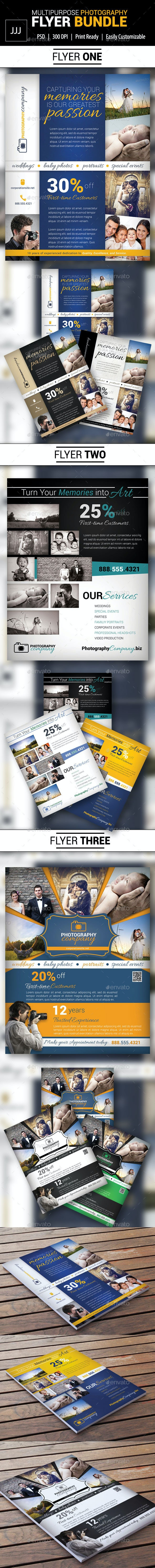 Photography Business Flyer Bundle - Corporate Flyers