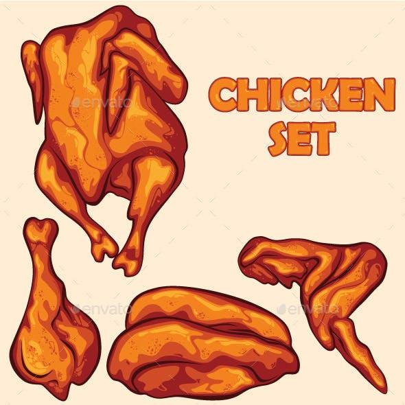 Chicken Set Illustration