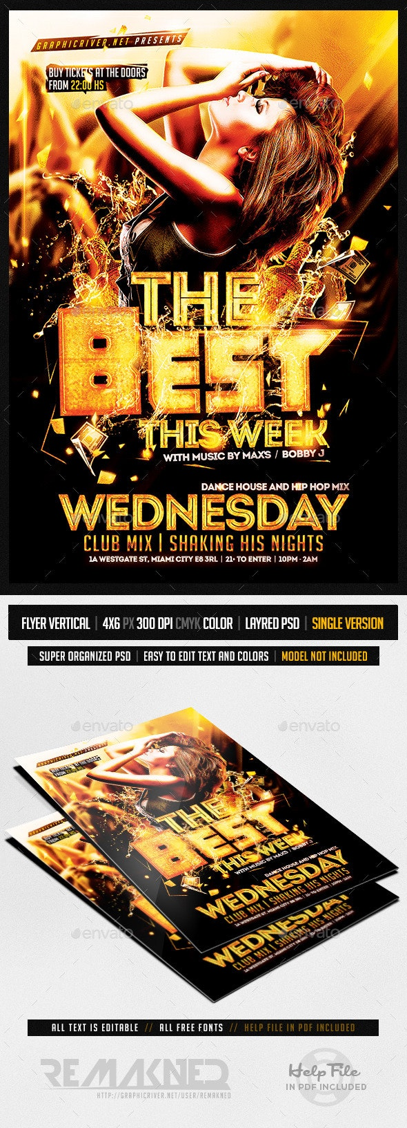 This Week | Flyer Template PSD - Flyers Print Templates