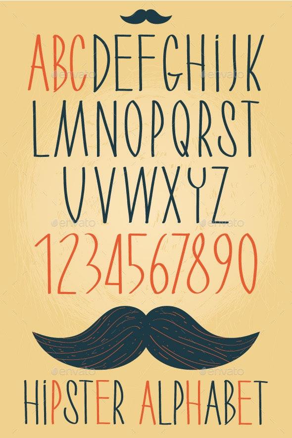 Hipster Alphabet Set  - Objects Vectors