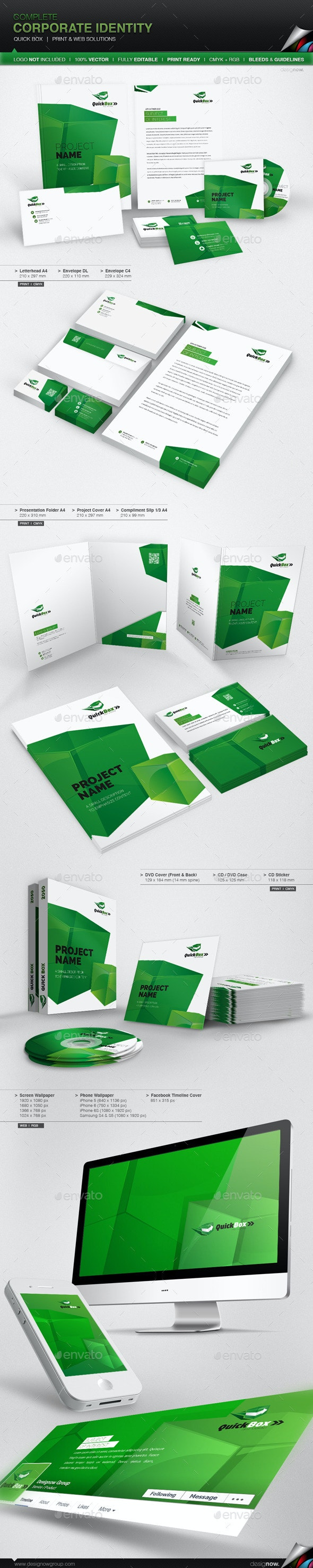 Corporate Identity - Quick Box - Stationery Print Templates