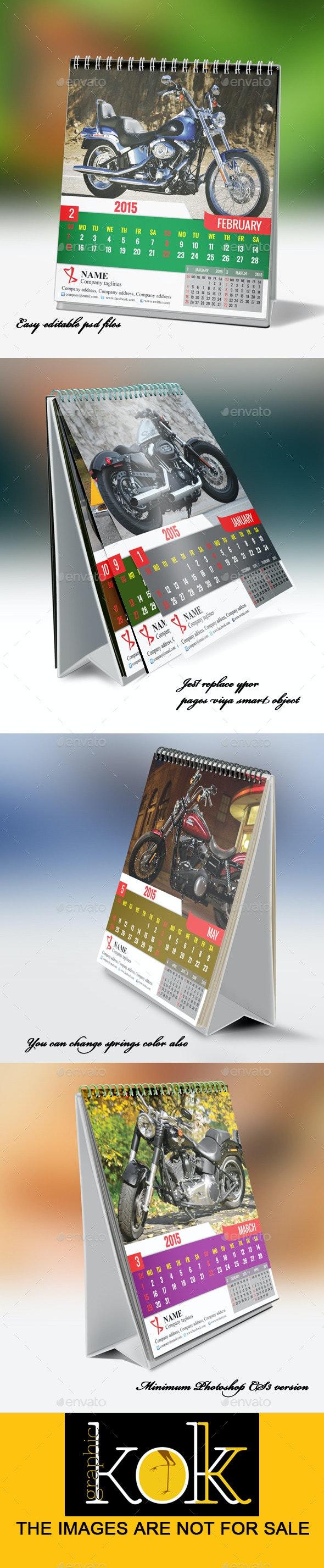 Desktop Calendar Mockup - Graphics