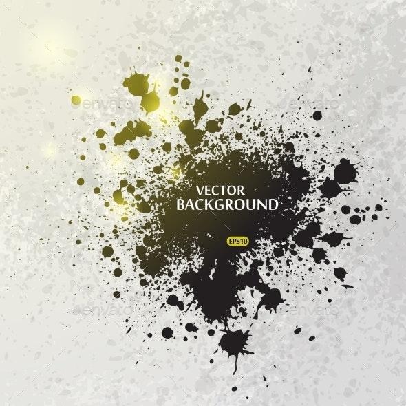 Ink Blots Splash Background - Decorative Vectors