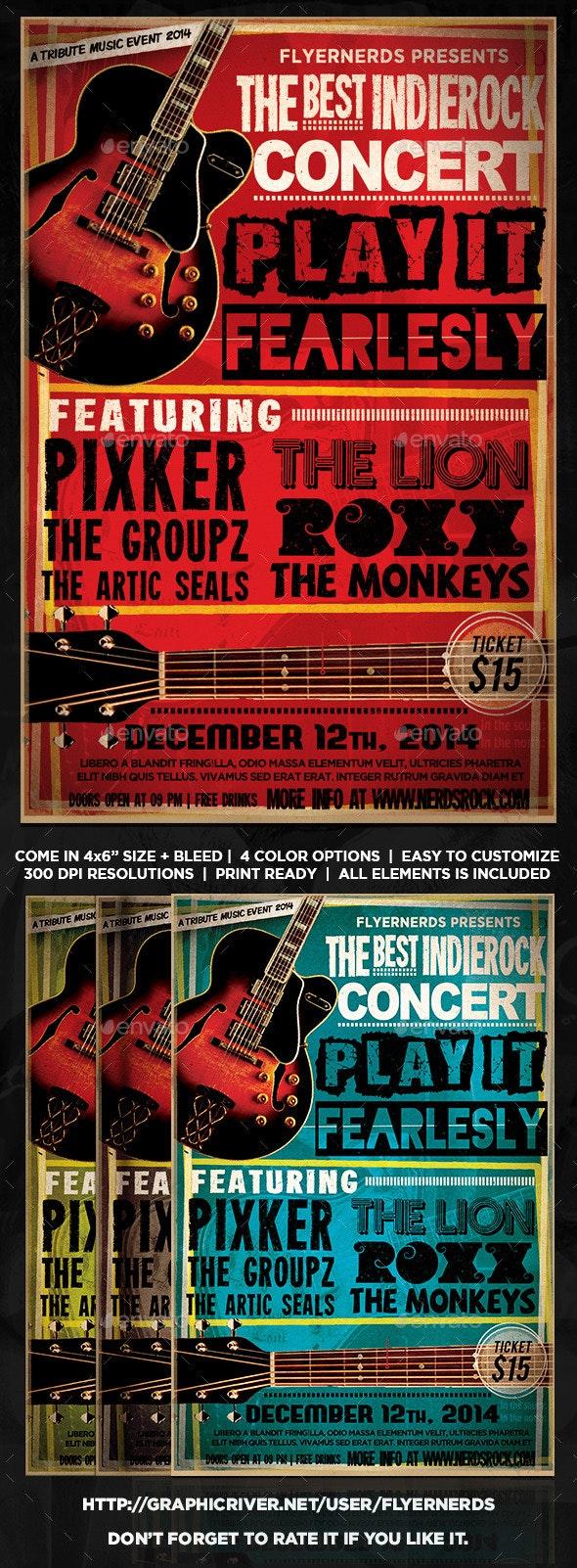 Indie Rock Concert Flyer - Concerts Events