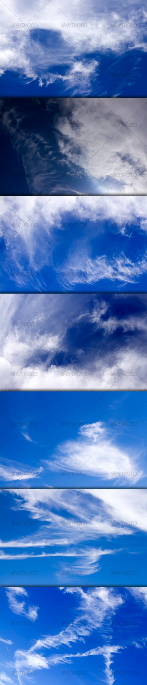 Cirrus Clouds On Good Weather Sky - Pack - Nature Textures