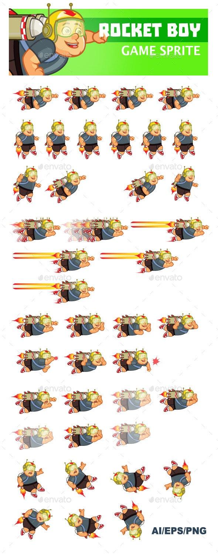 Rocket Boy Sprite - Sprites Game Assets