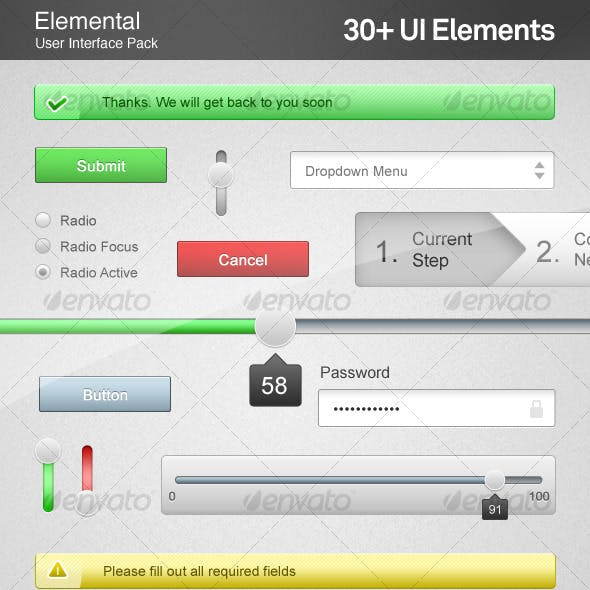 Elemental User Interface Components