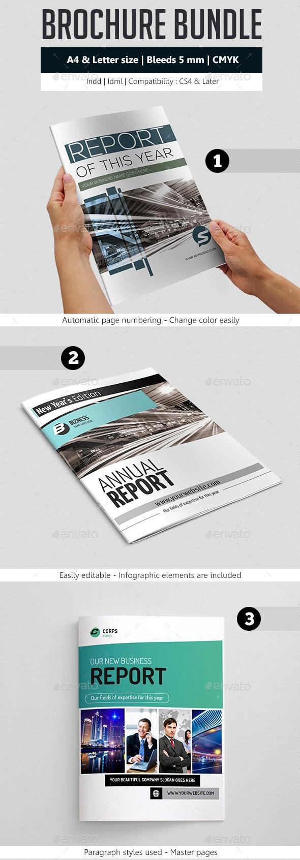 Business Brochure Template Bundle - Corporate Business Cards