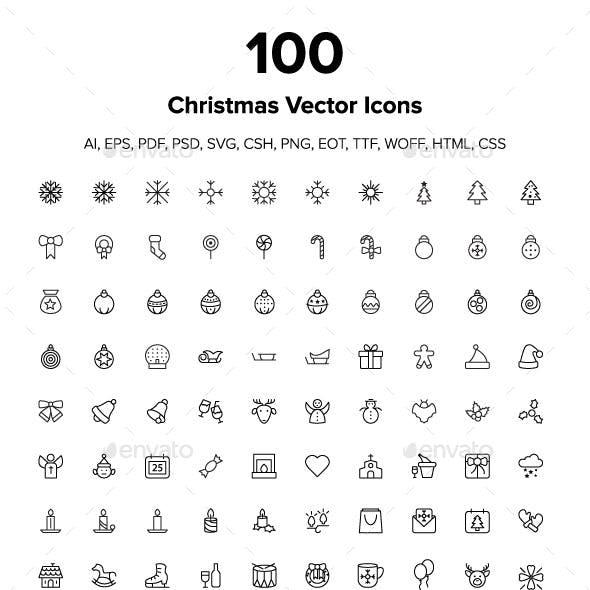 100 Merry Christmas Icons