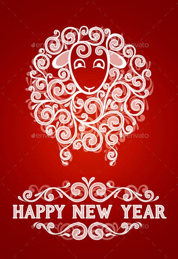 Abstract New Year Greeting Card - New Year Seasons/Holidays