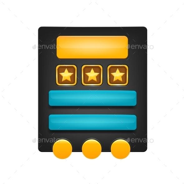 Web Buttons - Web Elements Vectors