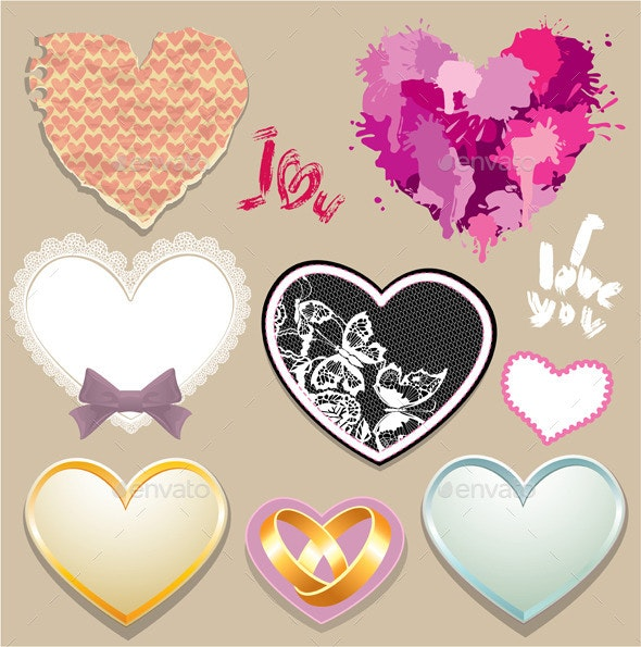 Heart Elements - Valentines Seasons/Holidays
