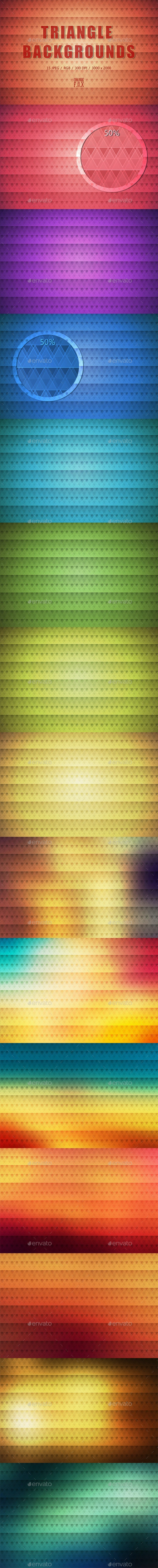 15 Triangle Backgrounds - Abstract Backgrounds
