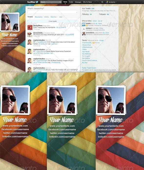 Colorful Vintage Twitter Backgrounds - Twitter Social Media