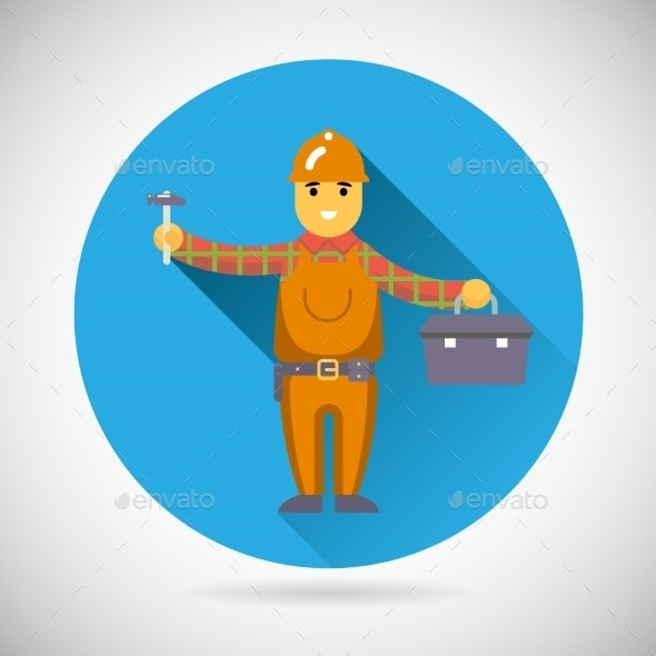 Worker Repairer Character - People Characters