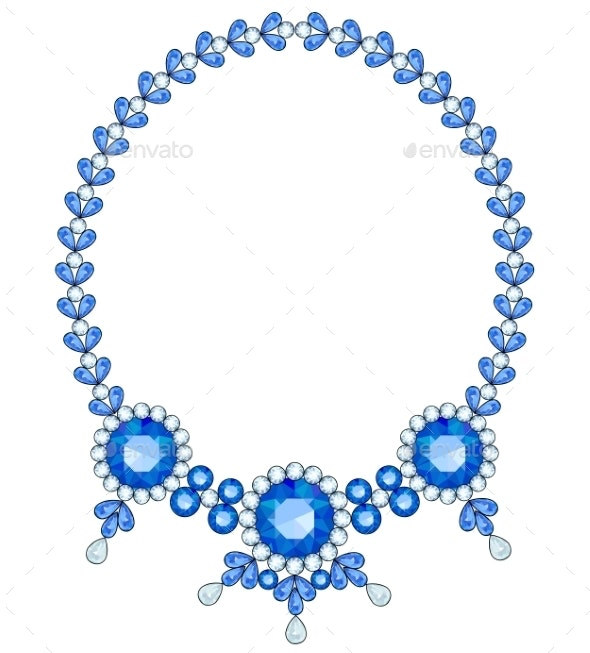 Blue Necklace - Man-made Objects Objects