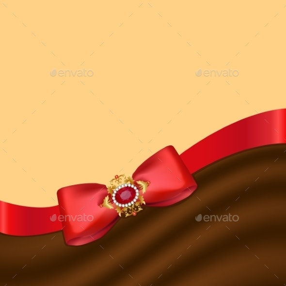 Greeting Card with Bow - Backgrounds Decorative