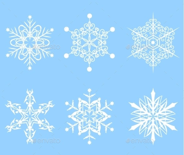 Set of Snowflakes - Christmas Seasons/Holidays